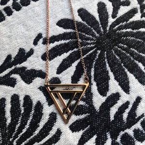 Jewelry - NWOT Gold Toned Geometric Triangle Necklace